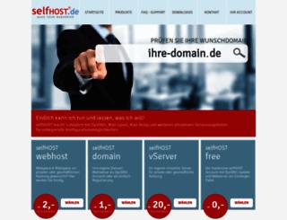 selfhost.eu screenshot