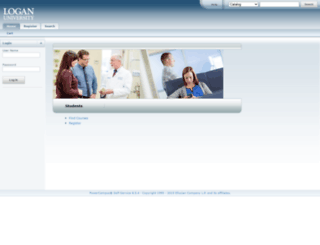 selfserve.logan.edu screenshot