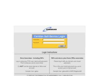selfservice.aarons.com screenshot