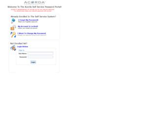 selfservice.acorda.com screenshot