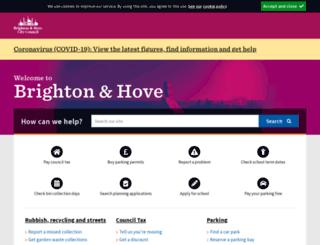 selfservice.brighton-hove.gov.uk screenshot