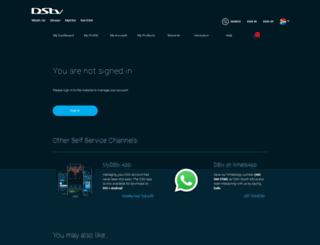 selfservice.dstv.com screenshot