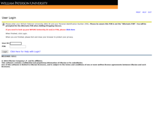 selfservice.wpunj.edu screenshot