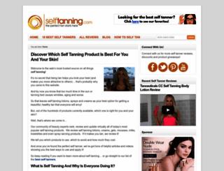 selftanning.com screenshot
