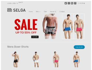selgaunderwear.myshopify.com screenshot