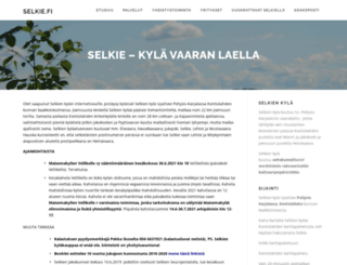 selkie.fi screenshot