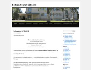 selkienkoulu.wordpress.com screenshot