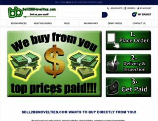 sell2bbnovelties.com screenshot