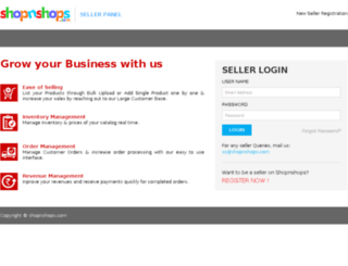 seller.shopnshops.com screenshot