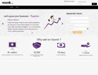 seller.voonik.com screenshot
