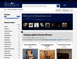 sellingantiques.co.uk screenshot