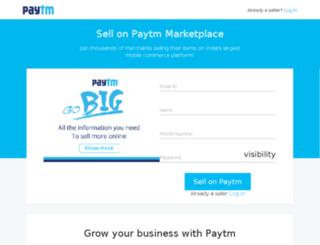 sellon.paytm.com screenshot