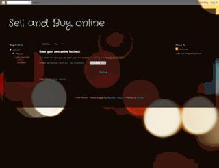 sellonlin.blogspot.com screenshot