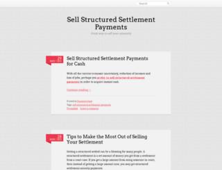 sellstructuredsettlementcatalina.wordpress.com screenshot