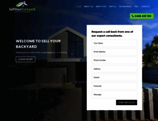 sellyourbackyard.com.au screenshot