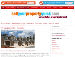 sellyourpropertyquick.com screenshot