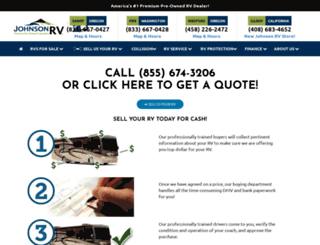 sellyourrv.johnsonrv.com screenshot