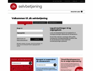 selvbetjening.dk-hostmaster.dk screenshot