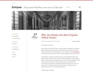 selviyan.wordpress.com screenshot