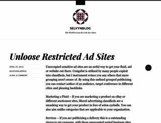 selvynblog.wordpress.com screenshot