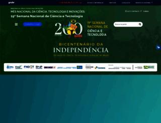 semanact.mcti.gov.br screenshot