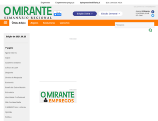 semanal.omirante.pt screenshot