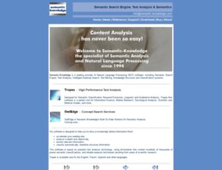 semantic-knowledge.com screenshot
