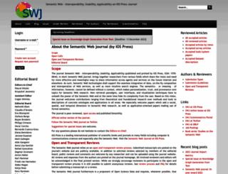 semantic-web-journal.net screenshot