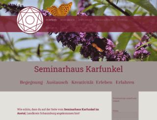 seminarhaus-karfunkel.de screenshot