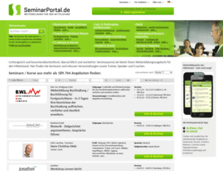 seminarportal.de screenshot