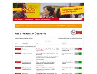 seminarprogramm.asb.de screenshot