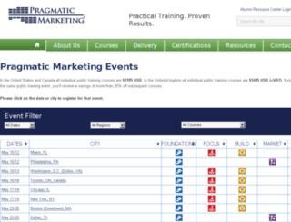 seminars.pragmaticmarketing.com screenshot