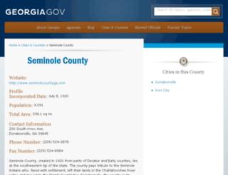 seminolecounty.georgia.gov screenshot