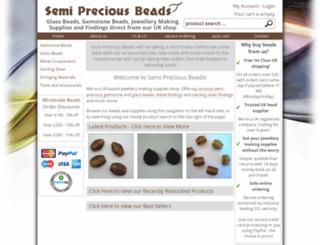 semipreciousbeads.co.uk screenshot