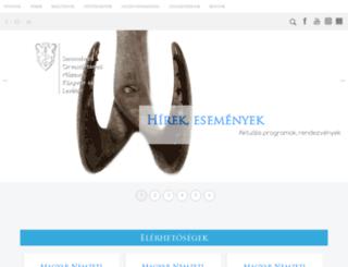 semmelweis.museum.hu screenshot