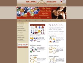 senaratnajewellers.com screenshot