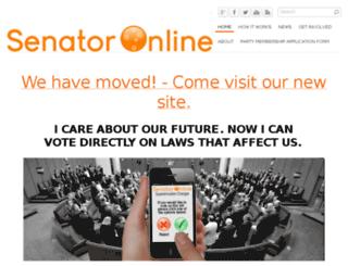 senatoronline.org.au screenshot