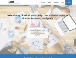 senderglobal.com screenshot