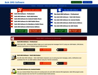 sendgroupsms.com screenshot