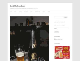 sendmefreebeer.com screenshot