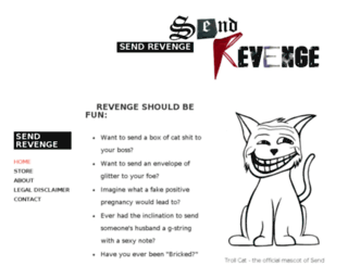 sendrevenge.org screenshot