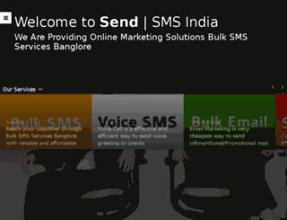 sendsmsindia.com screenshot