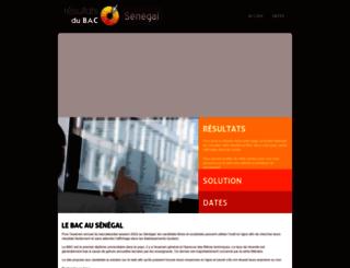 senegal.resultats-bac.info screenshot