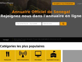 senegalphonebook.com screenshot