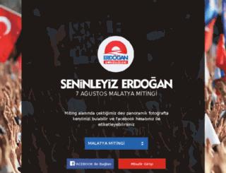 seninleyizerdogan.com screenshot