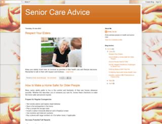 senior-care-advice.blogspot.com screenshot