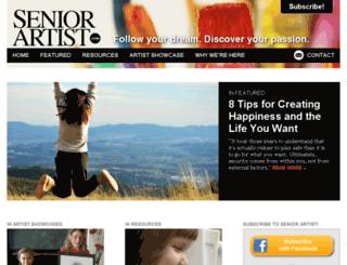 seniorartist.com screenshot