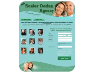 seniordatingagency.international screenshot