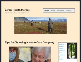 seniorhealthmemos.com screenshot
