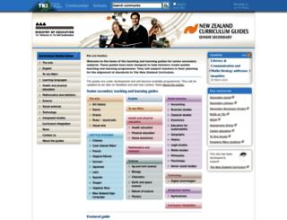 seniorsecondary.tki.org.nz screenshot